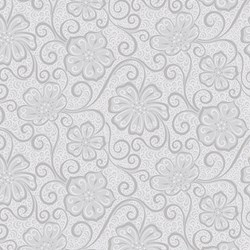 "10"" Remnant - Grey Tonal  Floral -Meadow Dance by Amanda Murphy for Benartex"